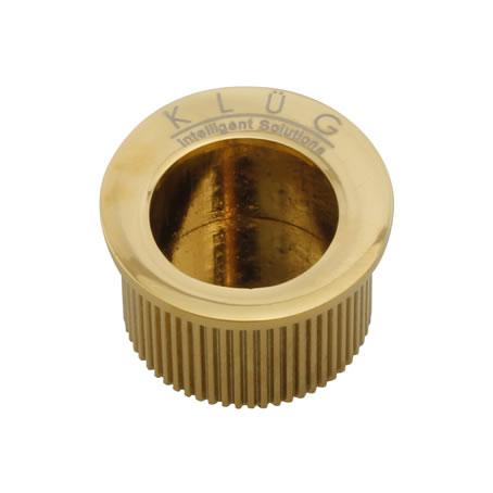 KLÜG Round Door Edge Finger Pull - 30mm - PVD Brass