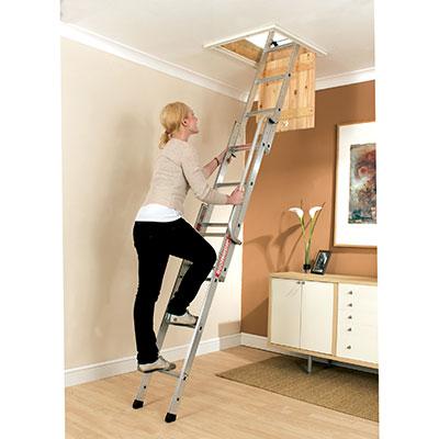 Youngman Aluminium Easiway Loft Ladder)