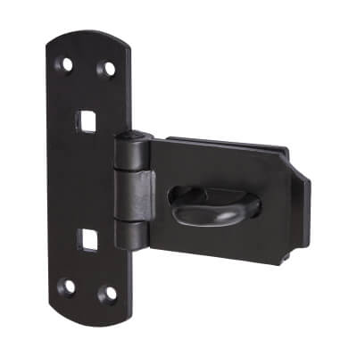 Heavy Pattern Hasp & Staple - 150mm - Vertical)