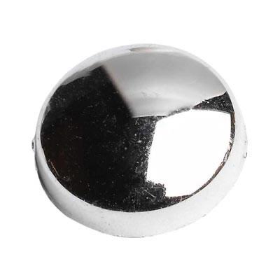 Plastic Screw Dome - Chrome Plated