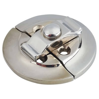 Round Butterfly Catch - 38mm - Polished Chrome