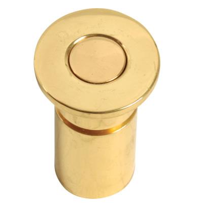 Concrete Floor Socket - 25mm - Polished Brass