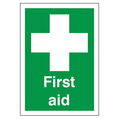 First Aid - 210 x 148mm - Rigid Plastic