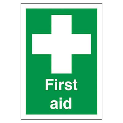 First Aid - 210 x 148mm - Rigid Plastic