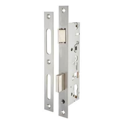 SAG Narrow Stile Sash Lock - 40mm Backset - Satin Stainless Steel)