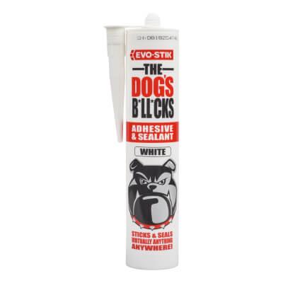 EVO-STIK The Dog's B*ll*cks - Multi-Purpose Adhesive & Sealant - White - 290ml)
