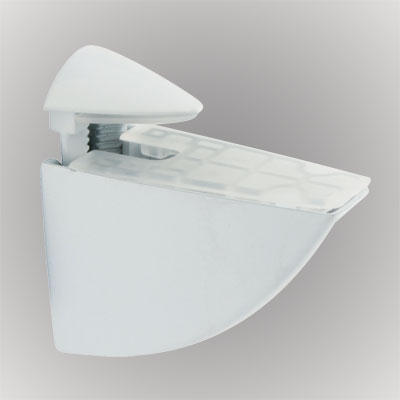 Pelican Shelf Support Bracket - 3-20mm Shelf Thickness - White)