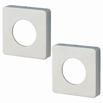 Jigtech Square Passage Cover Rose - Polished Chrome