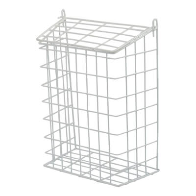 Letter Cage - 305 x 229 x 127mm - White Plastic Coated)