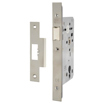 Union JHD72LA Heavy Duty Latch - 60mm Backset - Square - Satin Stainless Steel