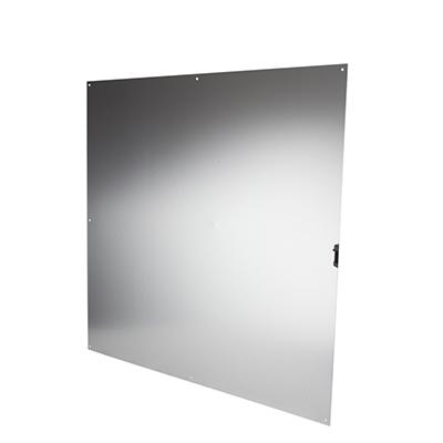 Half door panel kick plate - 838 x 838mm - Satin Anodised Aluminium