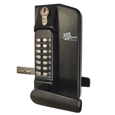 Borg BL3430 External Marine Grade Gate Lock Back to Back with Key Override - Black)
