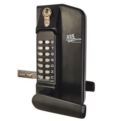 Borg BL3430 External Marine Grade Gate Lock Back to Back with Key Override - Black