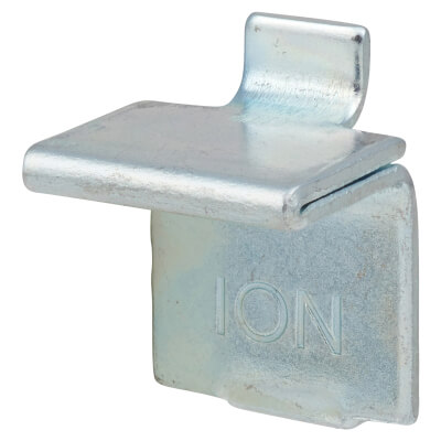 ION Heavy Duty Flat Bookcase Clip - Bright Zinc Plated