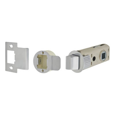 UNION JFL26 FastLatch Tubular Push-Fit Latch - 60mm Case - 44mm Backset - Polished Chrome