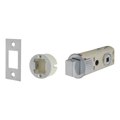 UNION JFL27 FastLatch Tubular Push-Fit Bathroom Deadbolt - 60mm Case - 44mm Backset -  Polished Chr