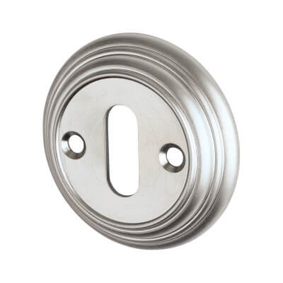 Aglio Escutcheon - Keyhole - Satin Chrome