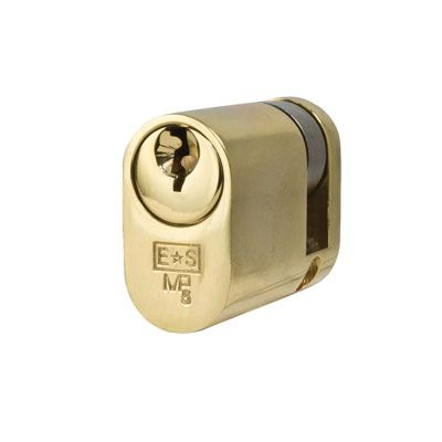 Eurospec MP5 - Oval Single - 30 + 10mm - Polished Brass  - Master Keyed