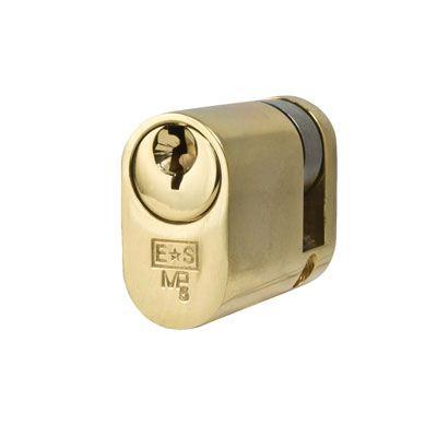 Eurospec MP5 - Oval Single - 30 + 10mm - Polished Brass  - Master Keyed