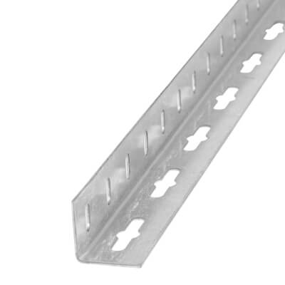 1000mm Drilled Equal Sided Angle - 23.5 x 23.5 x 1.2mm - Galvanised Steel)