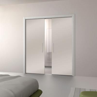 Eclisse 10mm Glass Double Pocket Door Kit - 100mm Wall - 762 + 762 x 1981mm Door Size