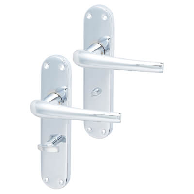 Elan Naples Door Handle - Bathroom Set - Polished Chrome
