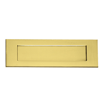 Victorian Plain Edge Letter Plate - 306 x 99mm - Polished Brass)