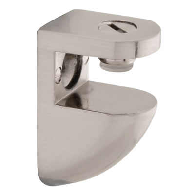Curve Shelf Support Bracket - 10-12mm Shelf Thickness - Brushed Chrome - Pack 4