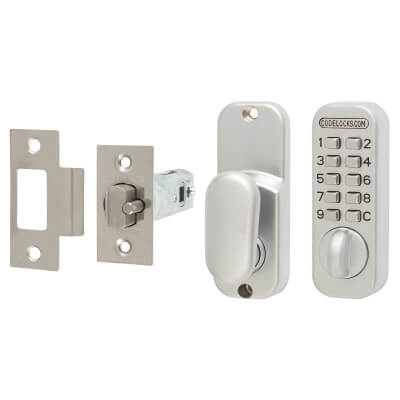 Codelock CL50 Mechanical Lock - Silver)
