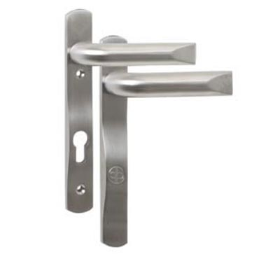 Evolution PAS24 Multipoint Lock Lever/Lever - uPVC/Timber - 92mm centres - Satin Stainless Steel)