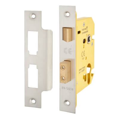 Altro Euro Profile Sashlock - 78mm Case - 57mm Backset - Satin Stainless