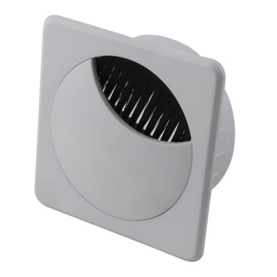 ION Square Cable Tidy - 60mm - White - Pack 10)