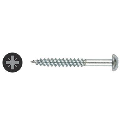 TIMco Round Head Twin Thread Pozi Screw - 10 x 1 1/2