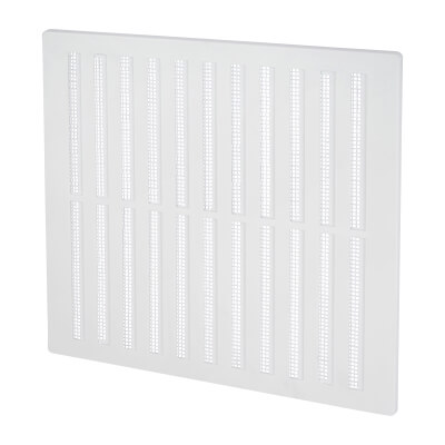 Hit & Miss Vent - 271 x 247mm - 13000mm2 Free Air Flow - White Plastic)