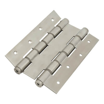 Architectural Double Action Spring Hinge - 180mm - Satin Stainless Steel)
