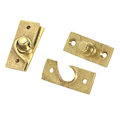 Concealed Pivot Hinge - 50 x 19mm - Self Colour Brass