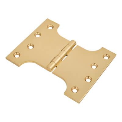 Parliament Hinge - 100 x 75 x 125 - Polished Brass - Pair)