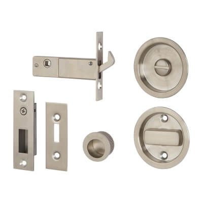 KLÜG Round Flush Privacy Set with Bolt - Stainless Steel Grade 304 - Satin )