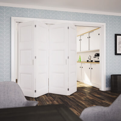 KLÜG Folding Door Kit - 3m Track for 40kg Doors - 4 Leaves in One Direction
