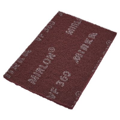 Mirka Mirlon Hand Pad - 152 x 229 x 10mm - Grit Red - Fine - Pack 20