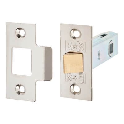 Project Tubular Latch Pack - 76mm Case - 55.5mm Backset - Nickel Plated - Pack 10)