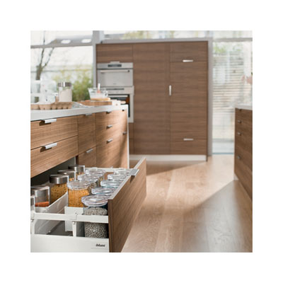 Blum Tandembox Antaro Pan Drawer - BLUMOTION (Soft Close) - (H) 206 x (D) 550 x (W) 450mm - Grey
