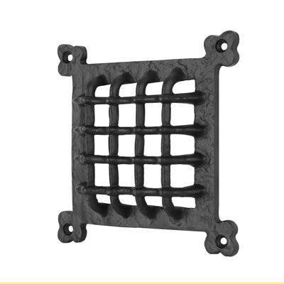 Elden Grille Cover - 171 x 171mm - Antique Black Iron