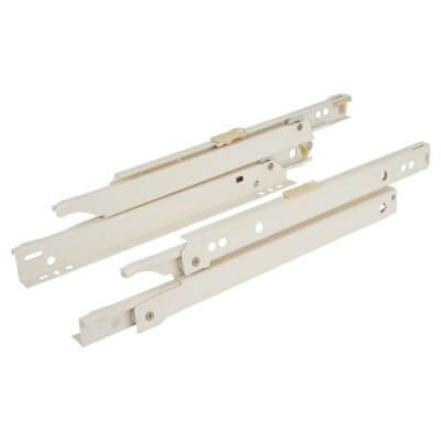 Blum Standard Euro Drawer Runner - Full Extension - 30kg - 400mm - Cream