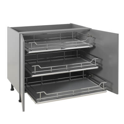 25kg Single Soft Close Pull Out Organiser - Cabinet Width 900mm