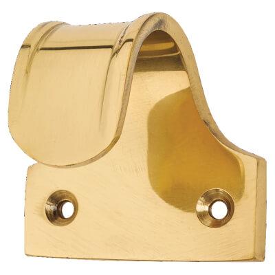 Budget Sash Finger Lift - 50 x 35mm - Polished Brass)