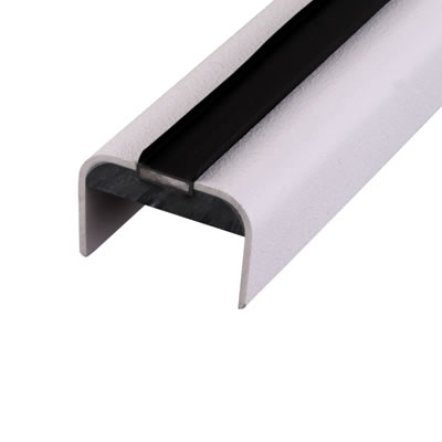 Lorient 44mm Intumescent Door Edge Protector - Falmouth - White Strip)