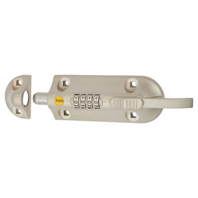 Yale® 600 Combination Door Bolt - 150mm - Satin Nickel)