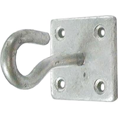 Hook on Plate - 6mm - Galvanised)
