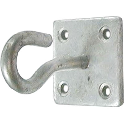 Hook on Plate - 6mm - Galvanised